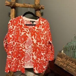 Designers Originals Floral Print Cardigan Size L